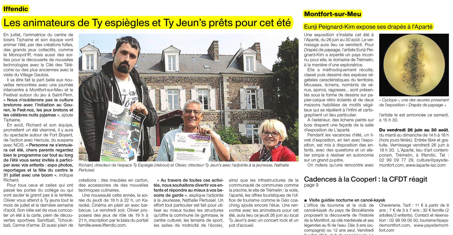 Ouest-France - 26 juin 2015