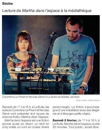 Article Ouest-France du 31 janvier 2019
