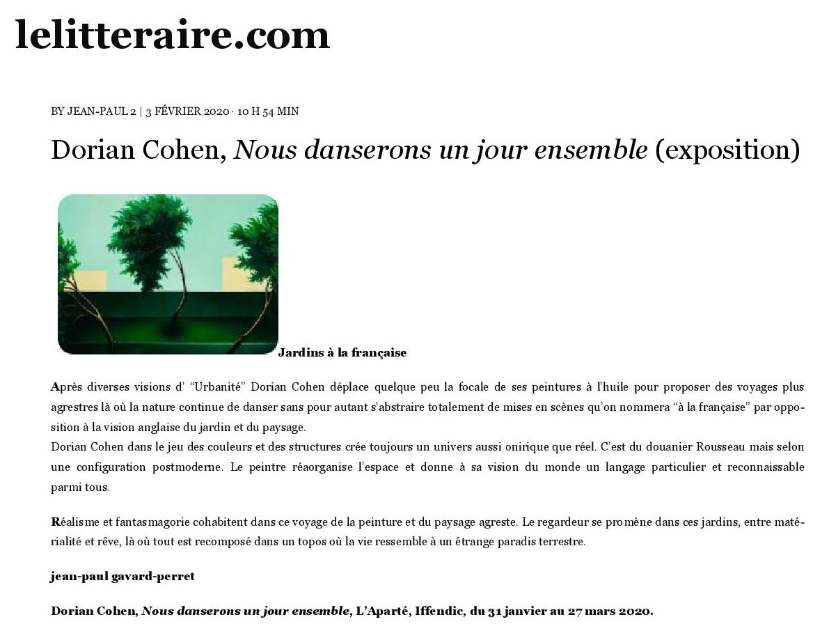 Article web lelitteraire.com