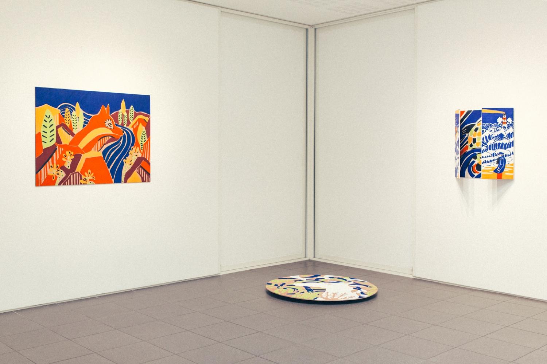 """Vue de l'exposition """"Murmures Sylvestres"""". Photo : Simon Détraz"""
