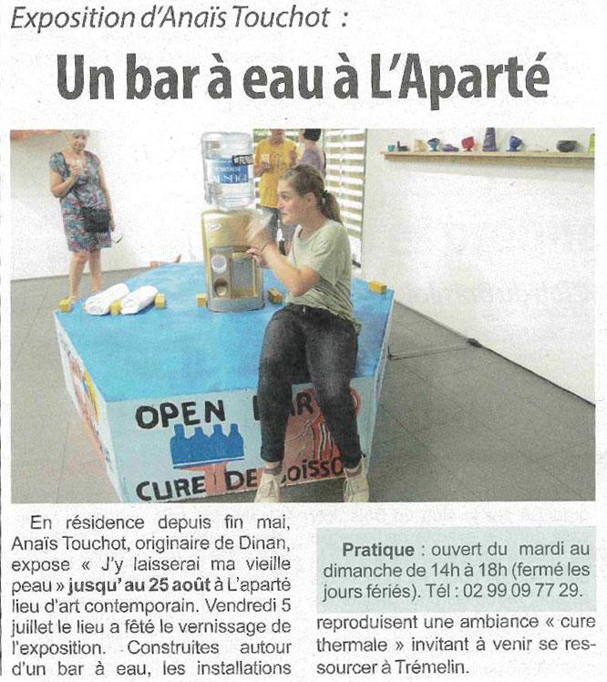 Article Hebdomadaire d'Armor du 20 juillet 2019