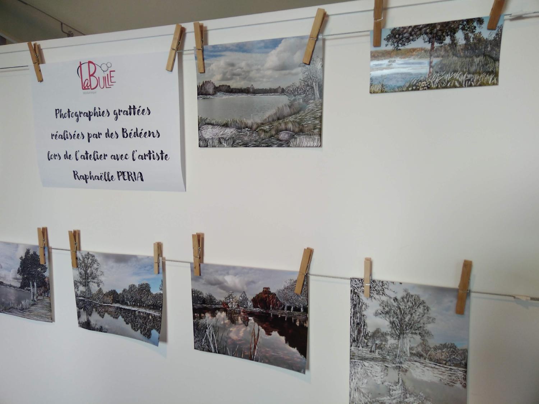 Photographies grattées par des particpant.e.s de Bédée