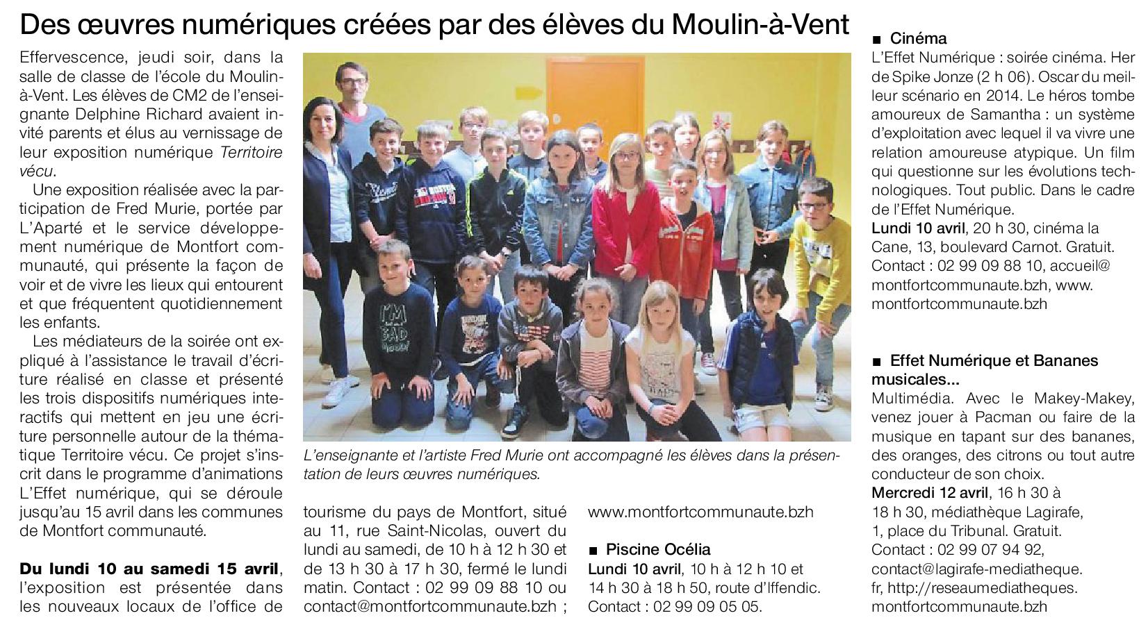 Ouest-France du lundi 10 avril 2017
