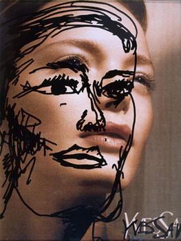 Médiathèque de Talensac : l'envie. Oeuvre : Jean-Philippe Lemée, Copie sur modèle, 2004, tirages numériques Chromapress, FRAC Bretagne. (5 oeuvres)