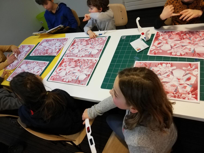 """Atelier sérigraphie """" La boîte à papillons"""" avec l'artiste Julien Duporté"""