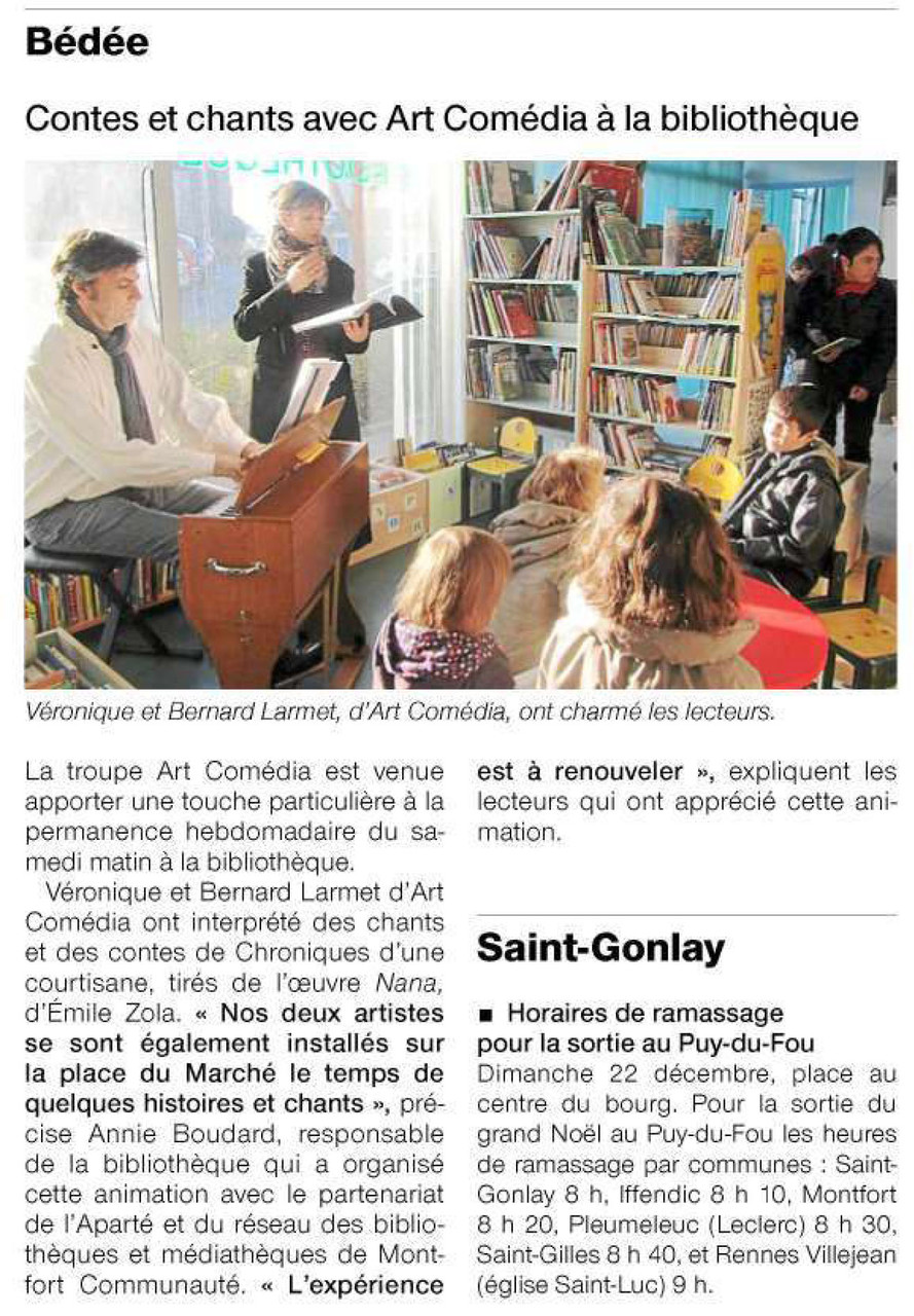 Ouest-France  - 11 décembre 2013