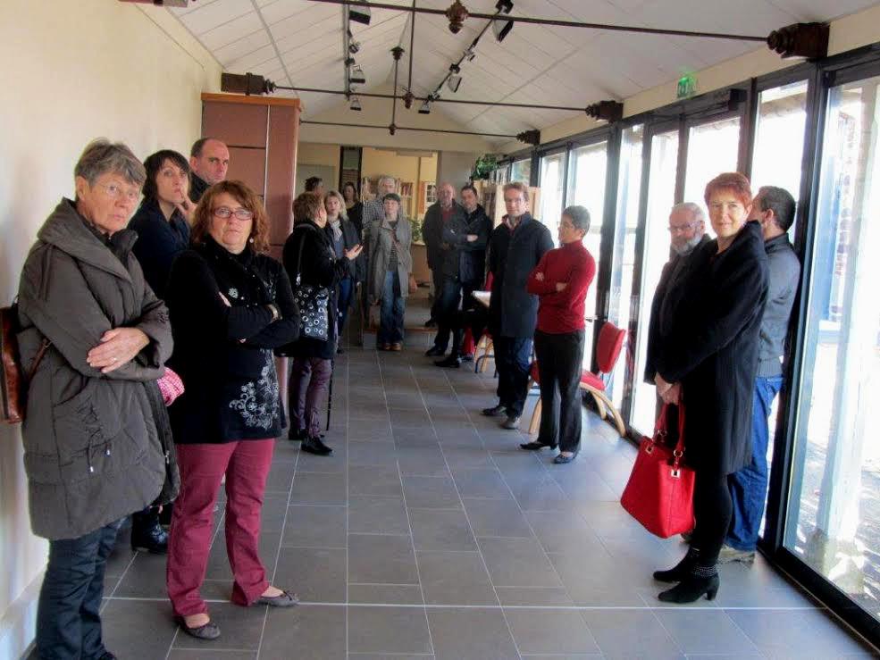 Inauguration du parcours art et littérature à la bibliothèque La Parchemine de Pleumeleuc