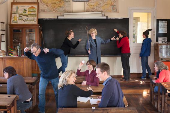 Photographie mise en scène de Cédric Martigny dans le cadre de la rencontre enseignants du 20 février 2013