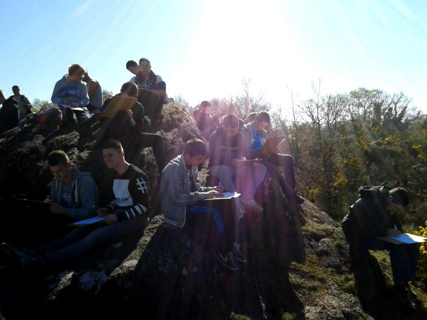 Découverte du vallon de la Chambre au loup (Iffendic) - croquis de paysage