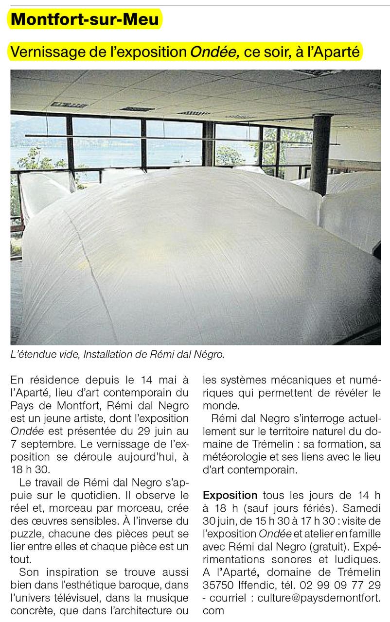 Ouest-France - 29 juin 2012