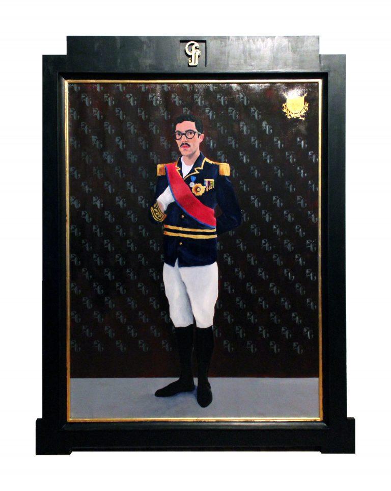 Fabien Gilles, accomplissement, acrylique sur toile encadrée, 159 x 122 cm, 2012. Fonds d'art contemporain de la Ville de Rennes.