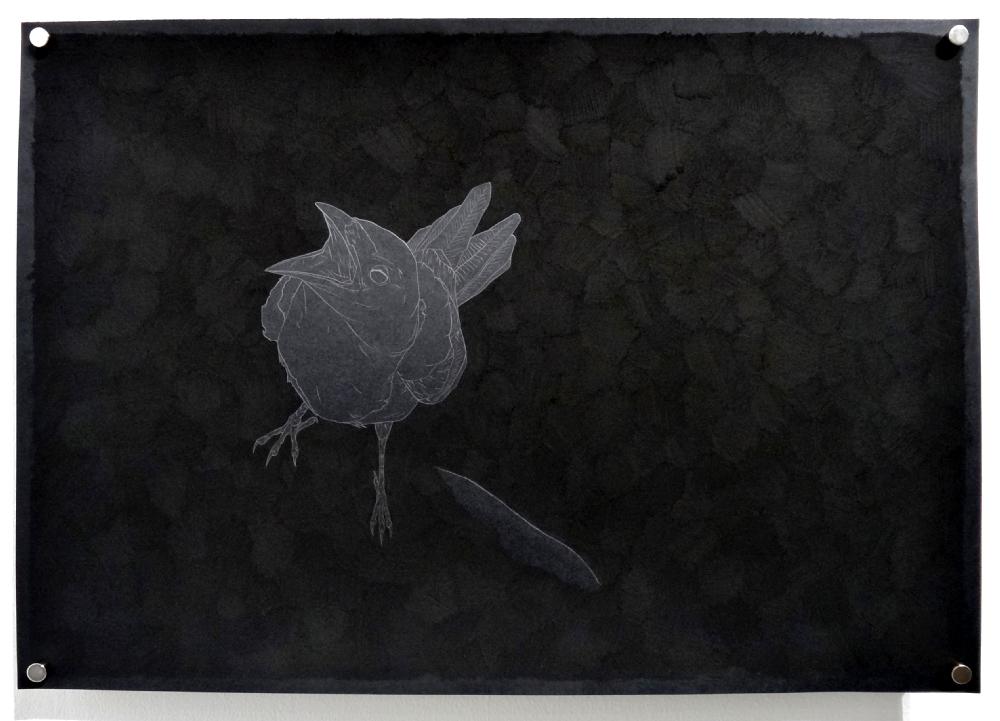 Carlos Bernal, Demeurer à, 2016, série de dessins, fusain et mine de plomb sur papier Clairefontaine Maya 120 gr., dimensions variables.
