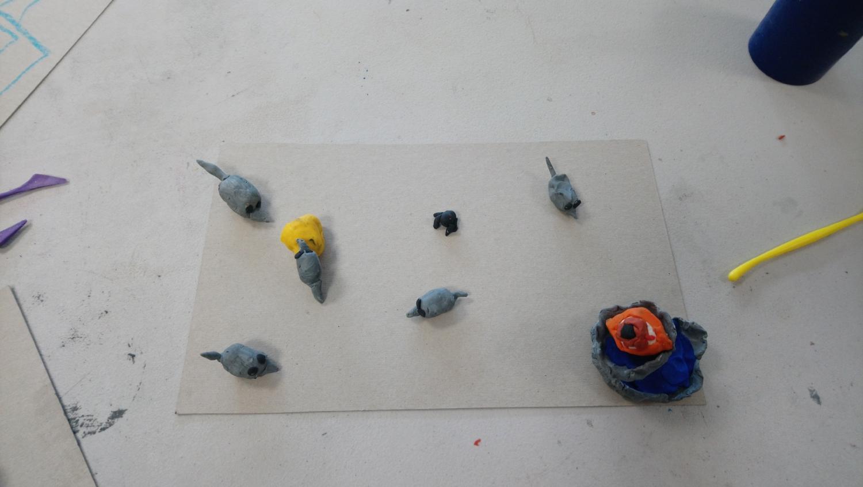 Visite et atelier autour de l'exposition d'Anaïs Touchot - ALSH d'Iffendic