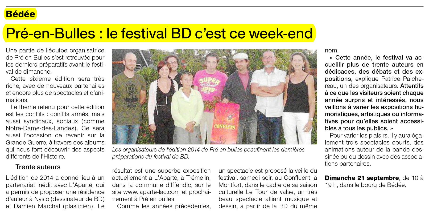 Ouest-France - 19 septembre 2014