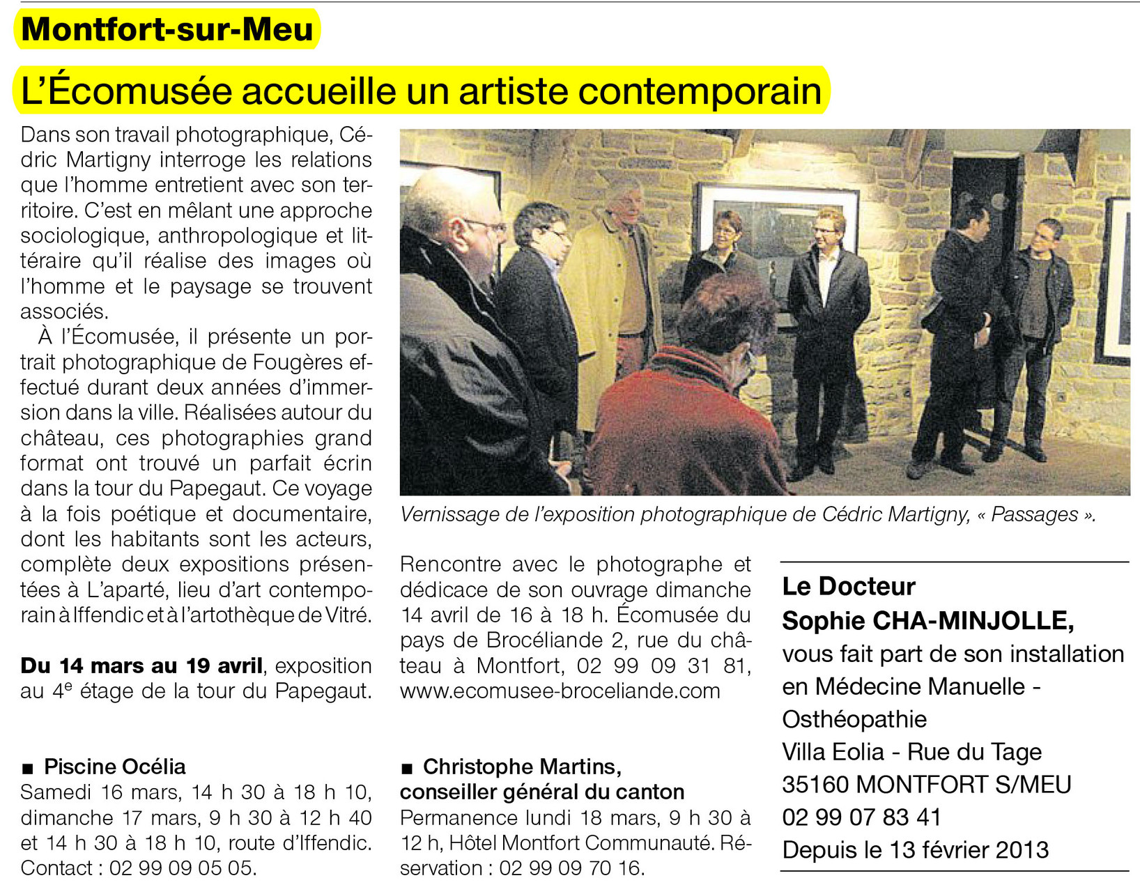 Ouest-France - 16 mars 2013