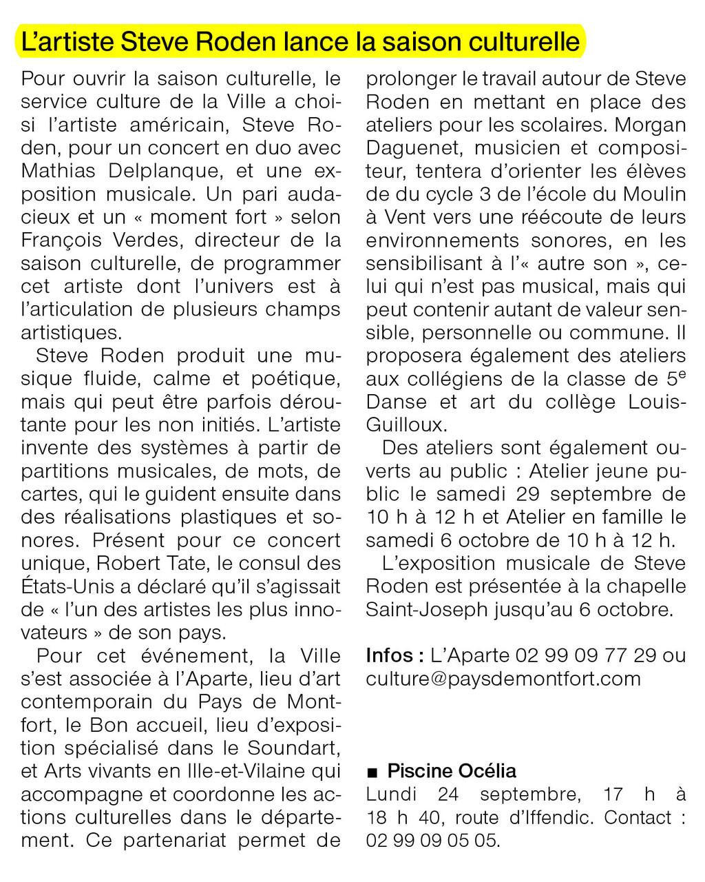 Ouest-France - 24 septembre 2012