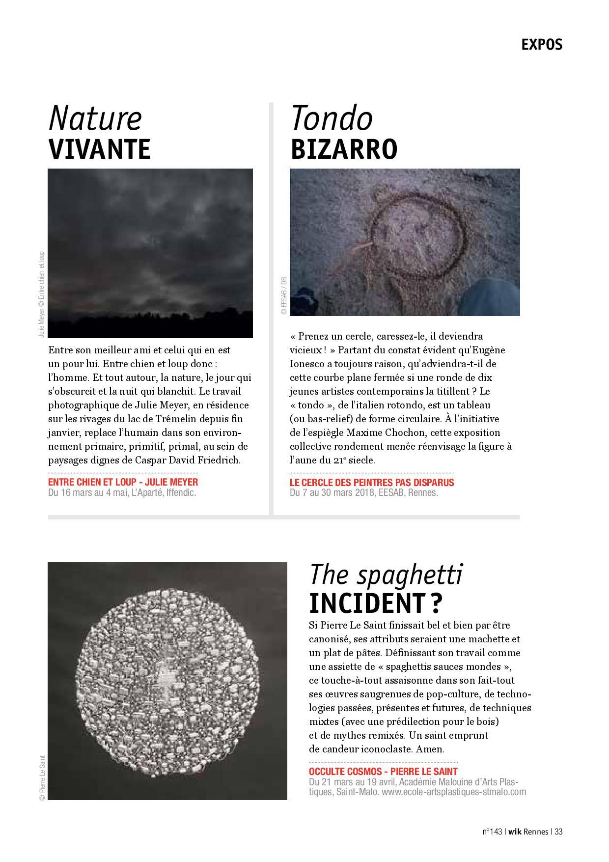 Article wik Rennes n°143, mars 2018