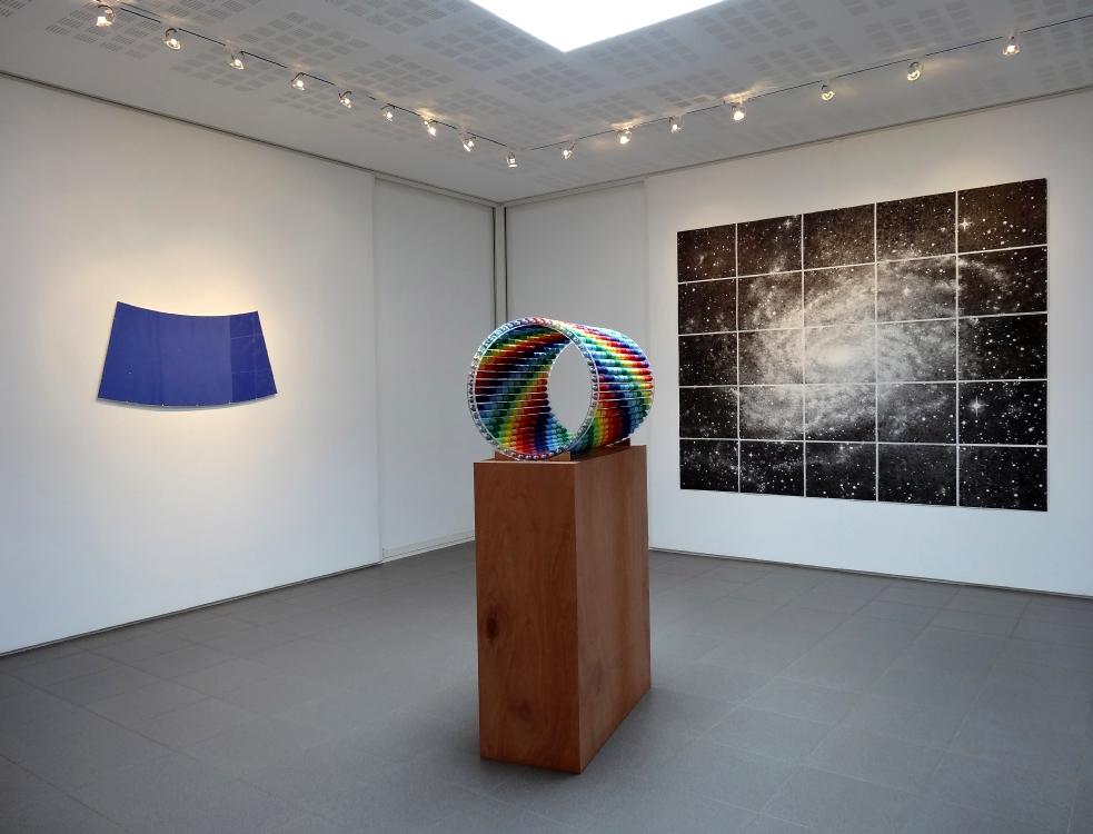 Vue de l'exposition Nikolas Fouré, 19° au-dessous de l'horizon, 2016. Photo : L'aparté