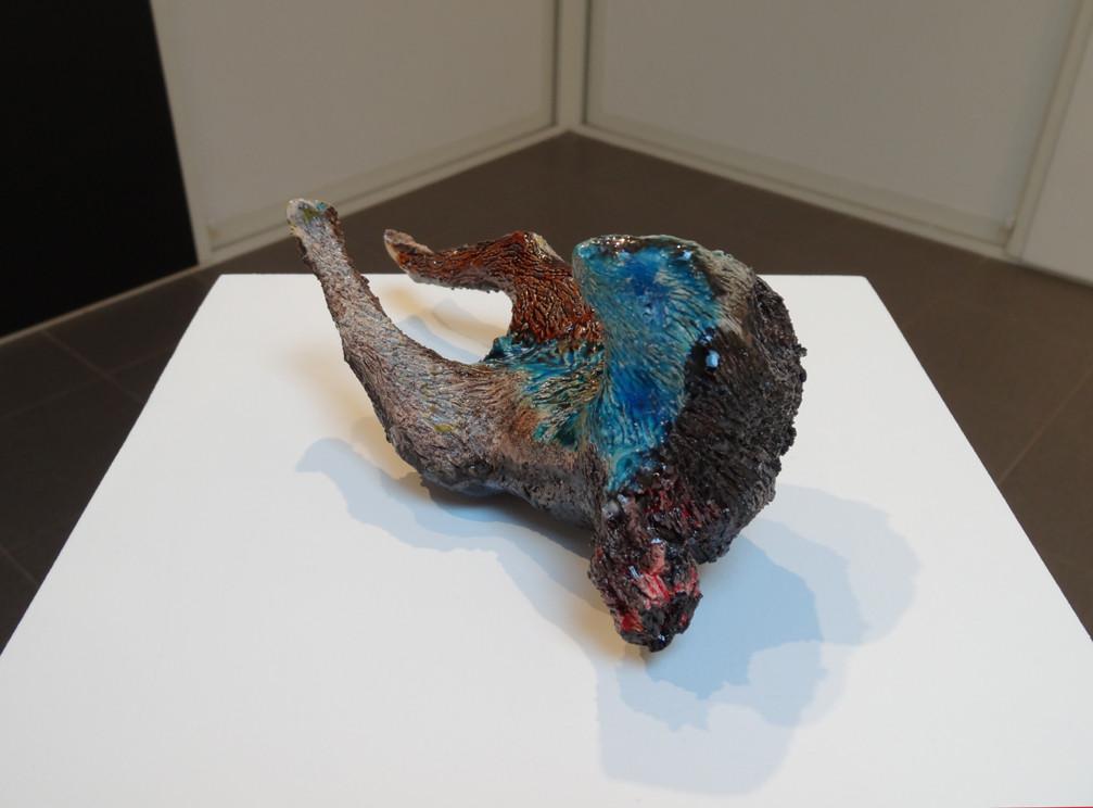 Noémie Sauve, Animal mis en scène - Céramique, 19x9x9cm, 2015