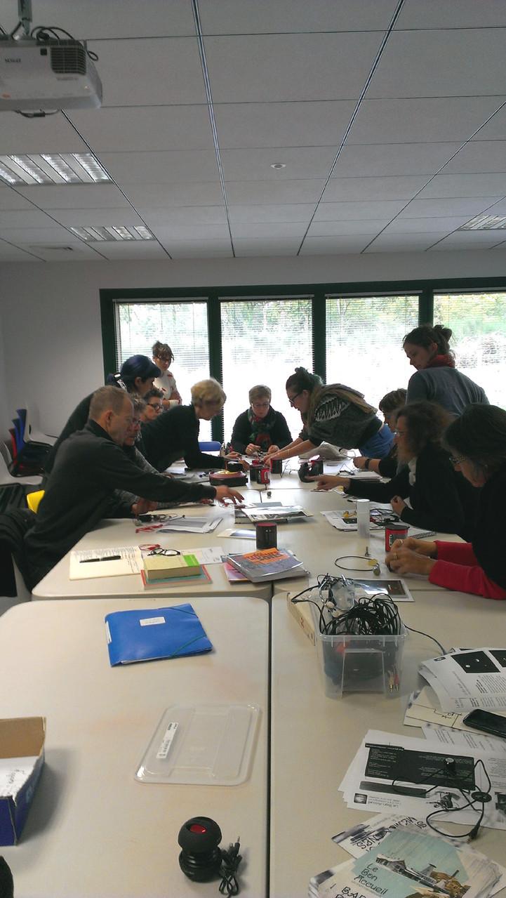 Formation enseignants à L'aparté (avec le Bon Accueil, Arts vivants en Ille-et-Vilaine et 2 conseillères pédagogiques départementales Arts)