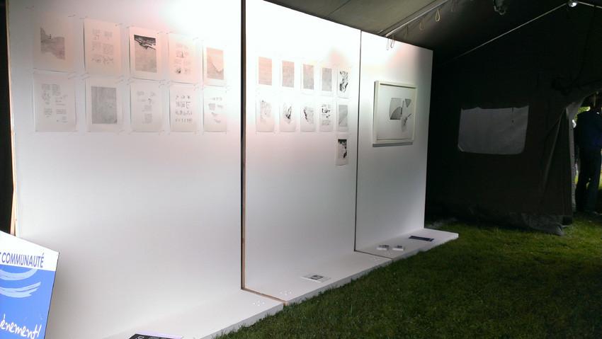 Participation de L'aparté à la 6ème édition du festival de BD Pré en bulles, à Bédée.