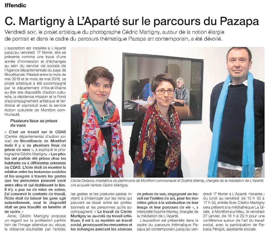 Ouest-France du lundi 23 janvier 2017.