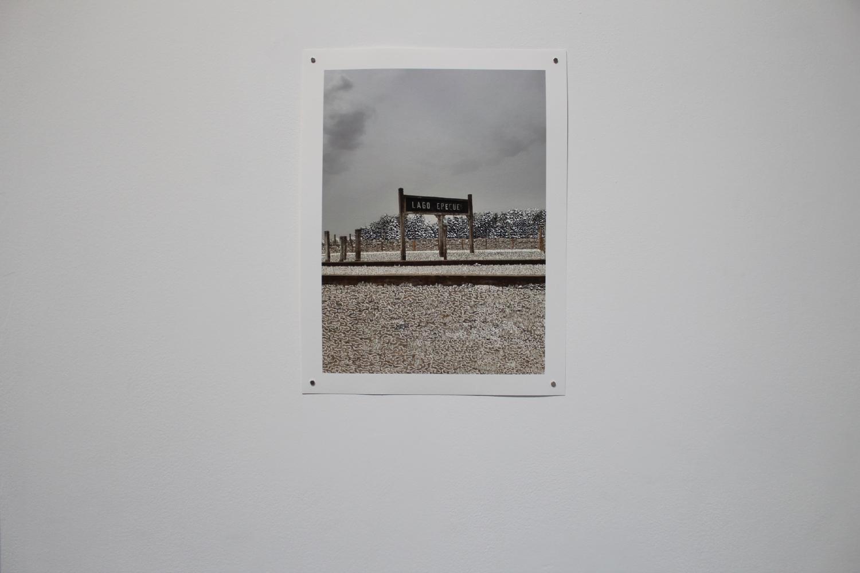 Raphaëlle Peria, Lago Epecuén, grattage sur photographie, 40 x 30 cm, 2020