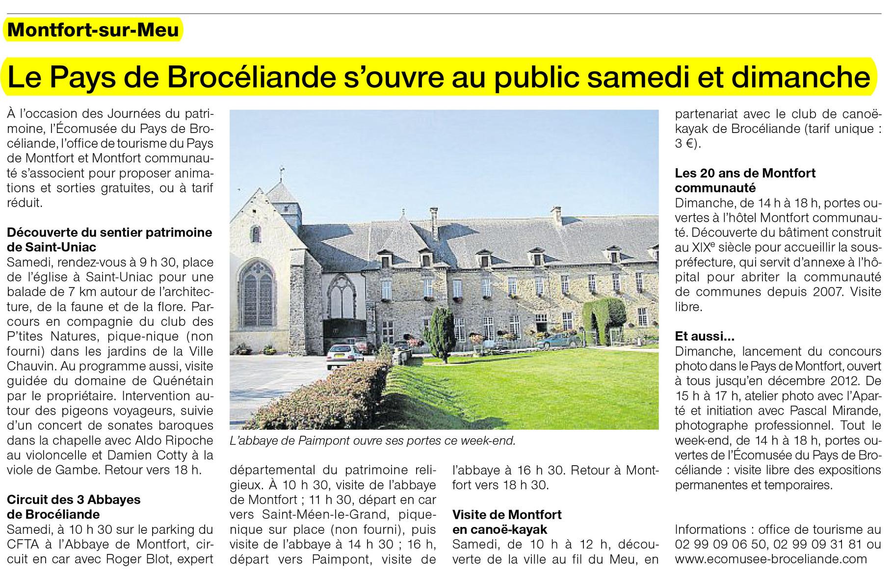 Ouest-France - 14 septembre 2012
