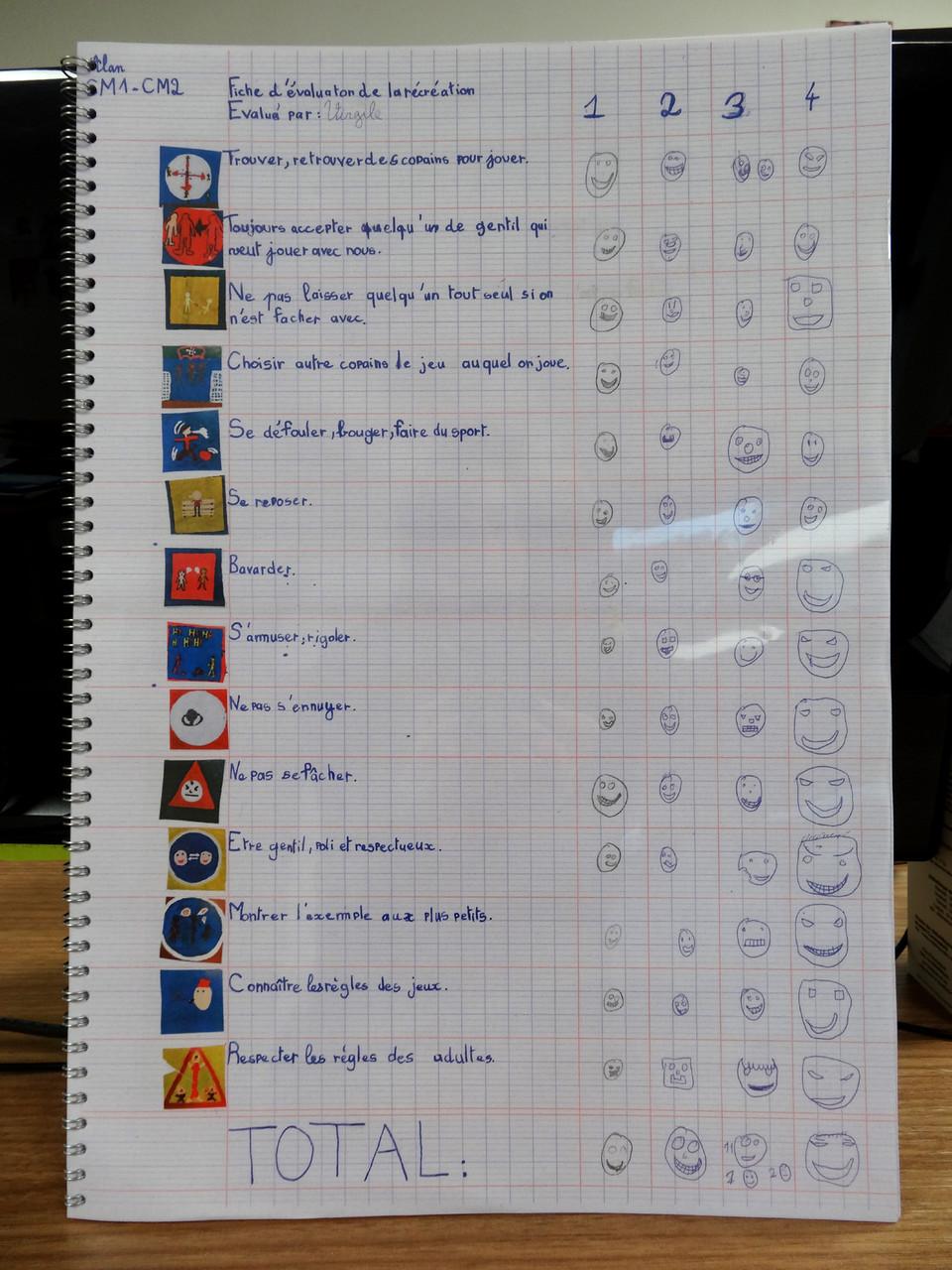 Livrets des évaluations des récréations - CM1-CM2 M Ecole élémentaire publique Moulin à Vent, Montfort-sur-Meu