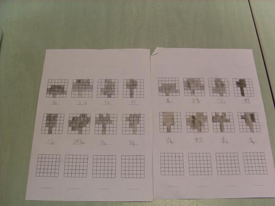 Jour 2 : Découverte du répertoire de formes d'Aurélie Mourier et remplissage des 12 modèles d'arbres