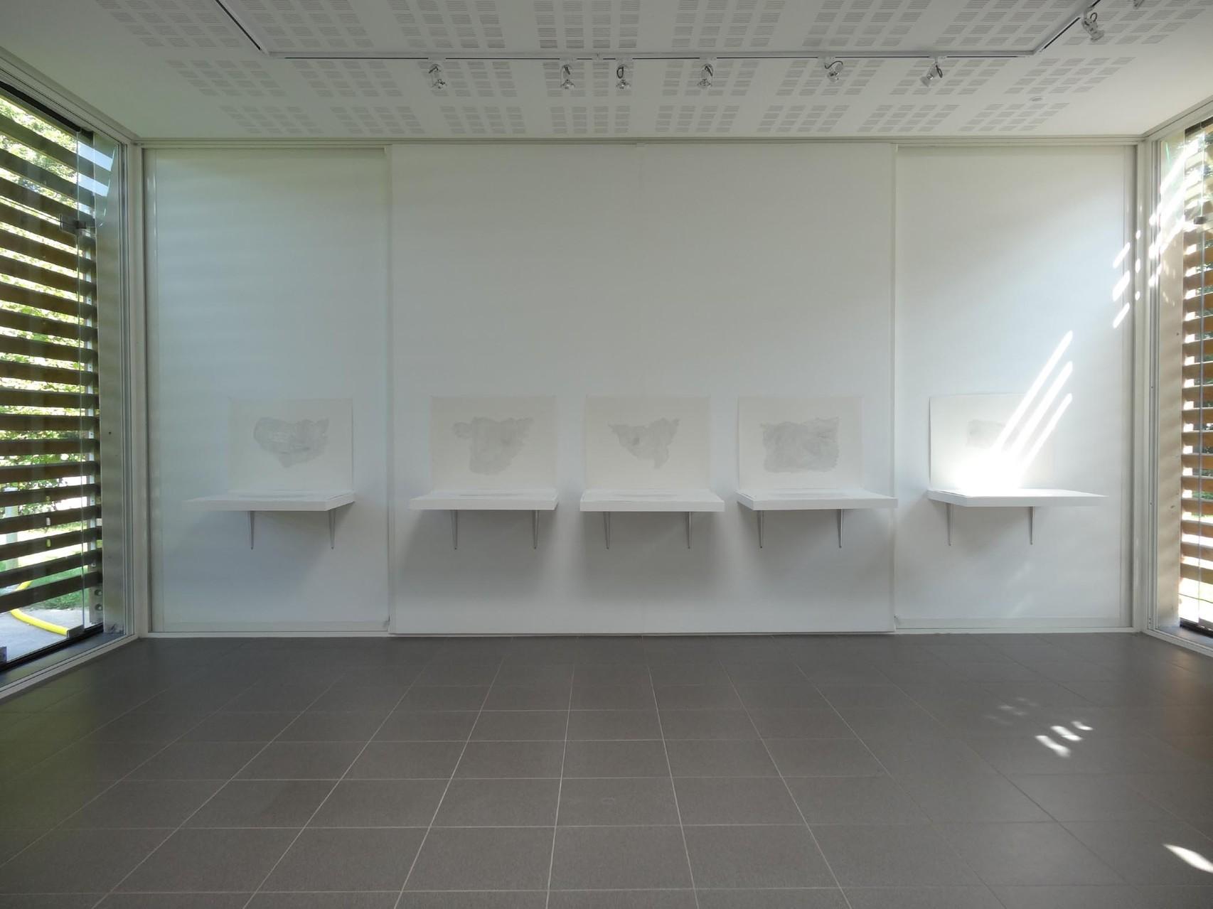 Vue de l'exposition Damien Marchal & Nylso, Trancher. Photo : L'aparté.