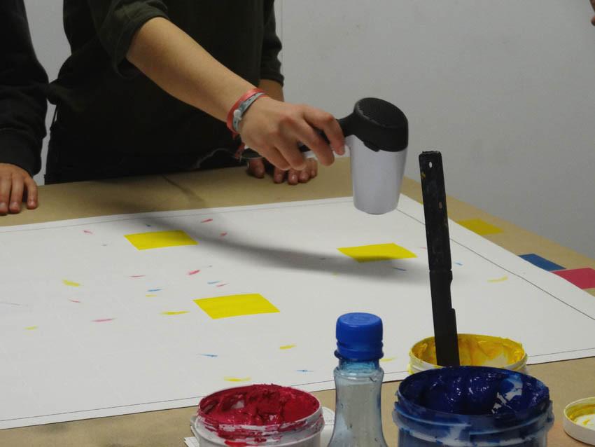 Ateliers sérigraphie de Julien Duporté au collège Louis Guilloux de Montfort-sur-Meu