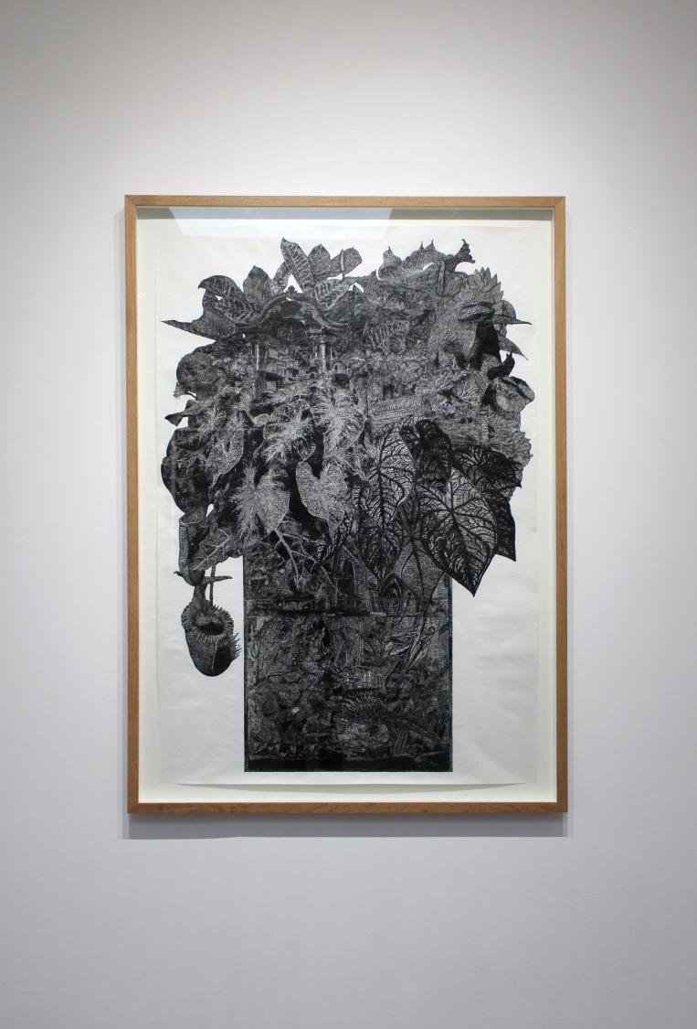 Les Tritons Marbrés, 2017. Encre de Chine sur papier, 120 x 80 cm