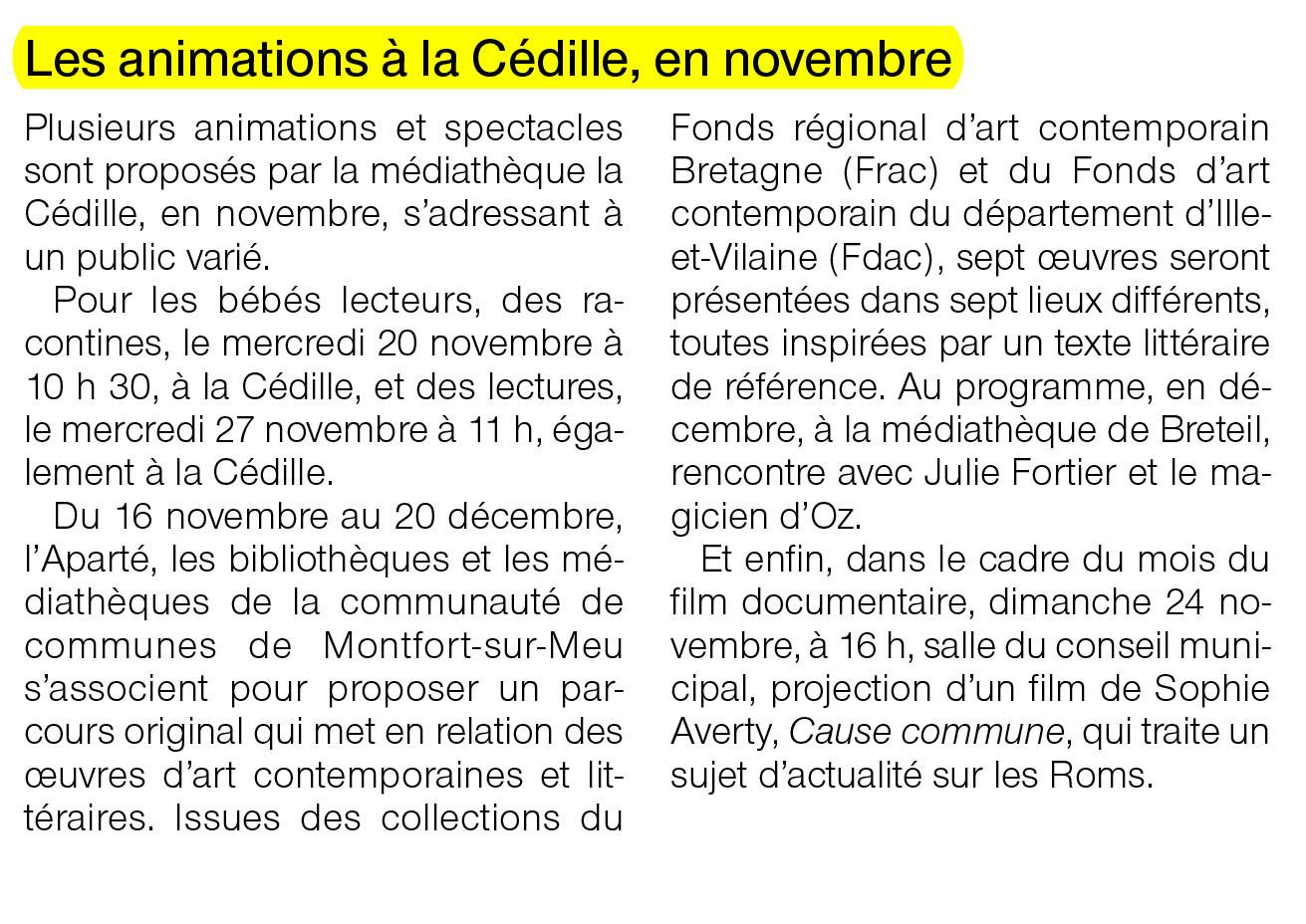 Ouest-France - 16 novembre 2013