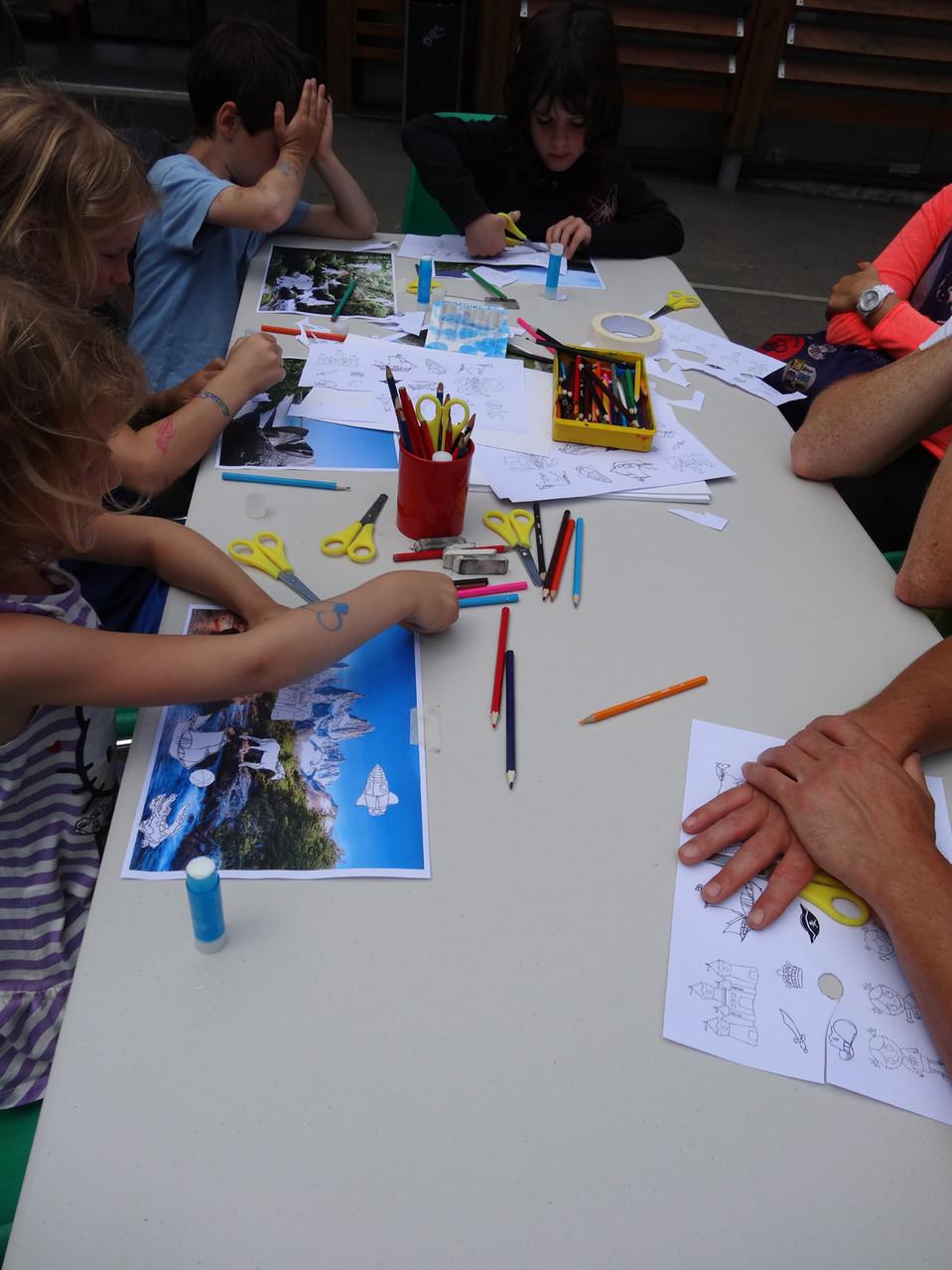 Goûter artistique en famille du 29 juin 2014