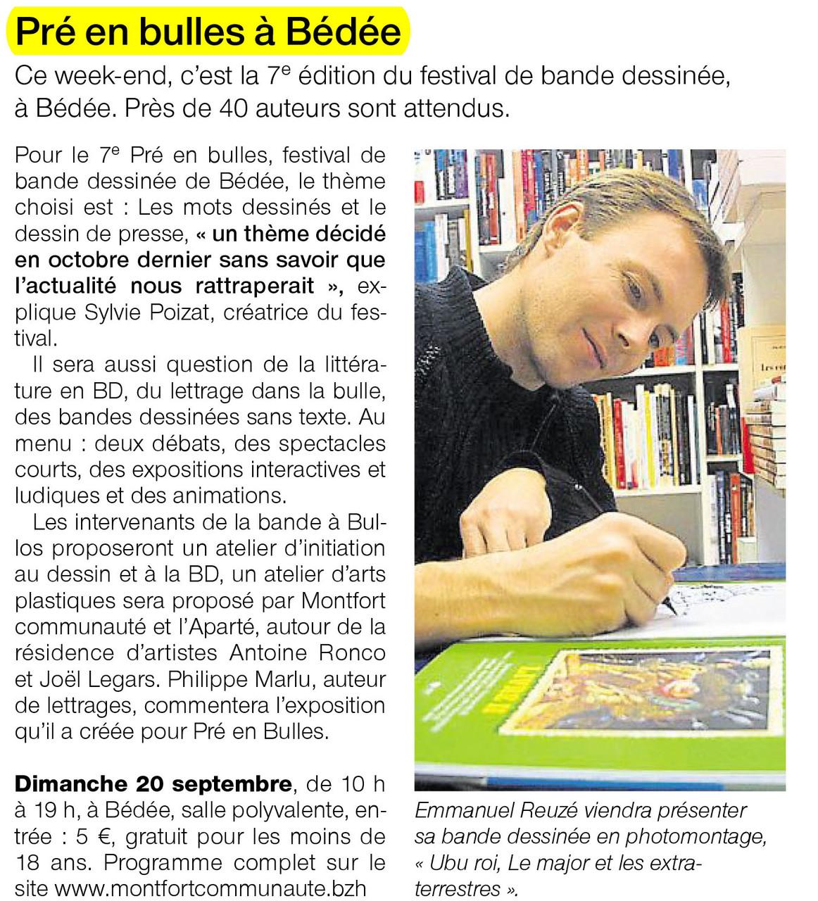 Ouest-France - 20 septembre 2015