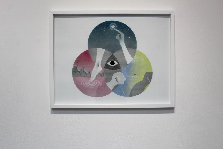 Vue de l'exposition Ihcar, Voyage aux centres du multivers