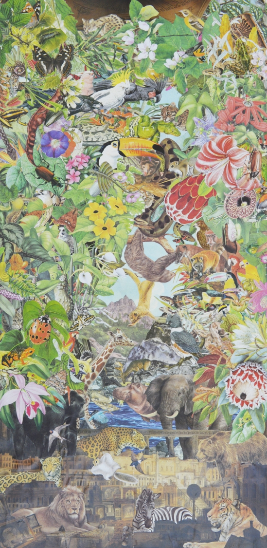 Quentin Montagne, Sir John Soane's Museum, 2020. Illustrations découpées et collées sur papier, 87,1 x 43,1 cm.