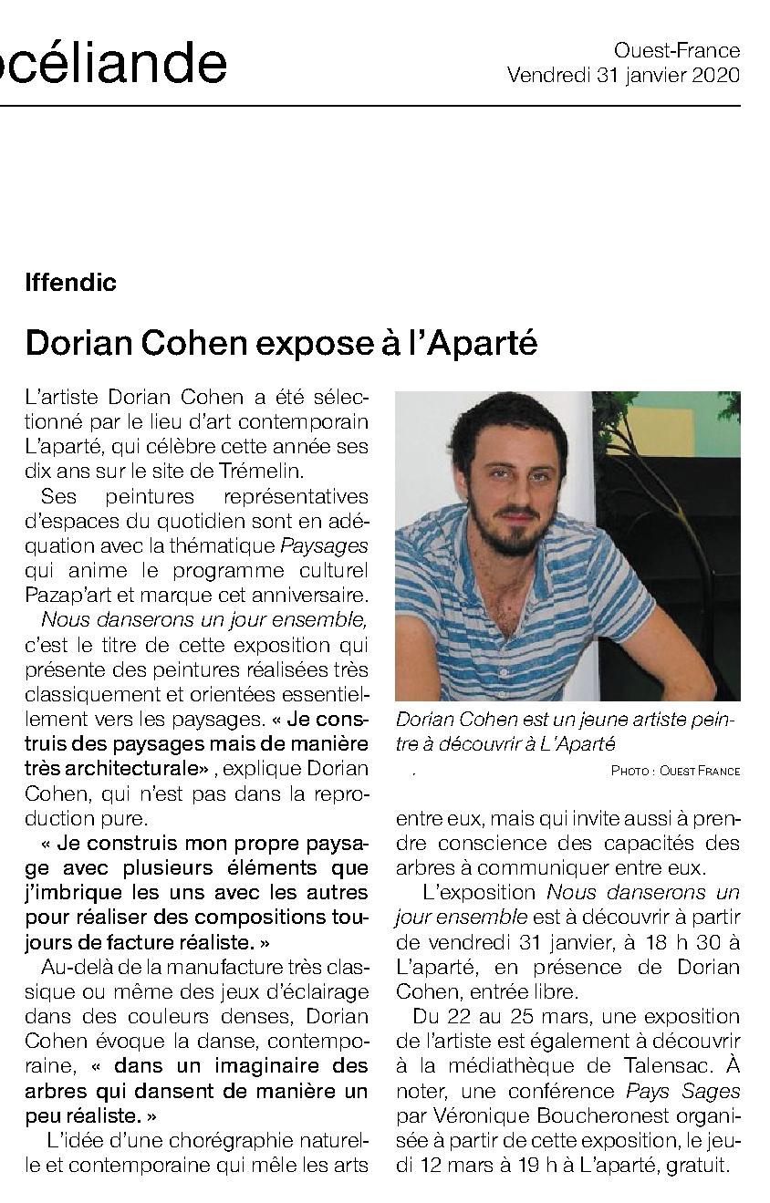 Article Ouest-France du 31 janvier 2020