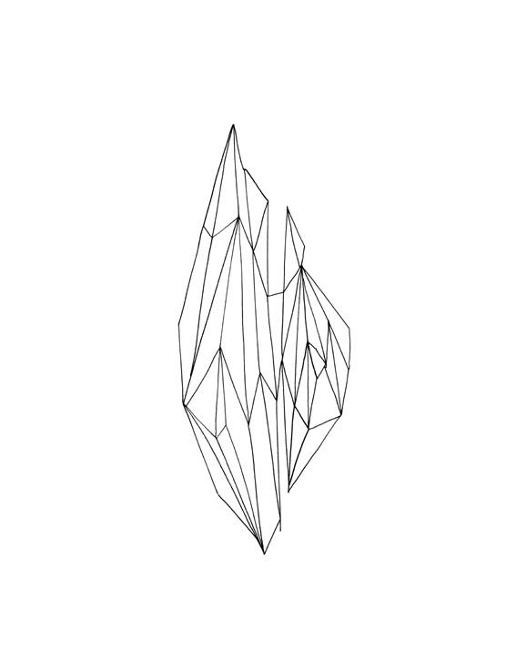 Yuna Amand, sélection de dessins de la série CaSO4 - 2H2O, format A3, 2012.