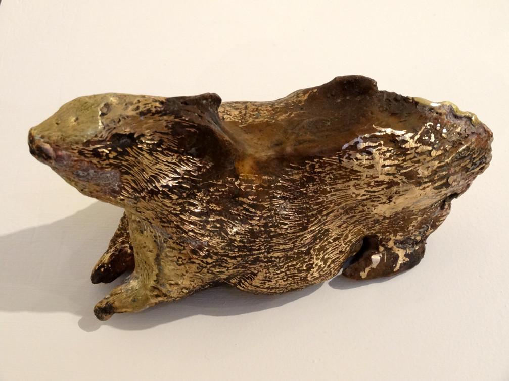 Noémie Sauve, Rat au cul explosif - Bronze, 16x7x8, 2014