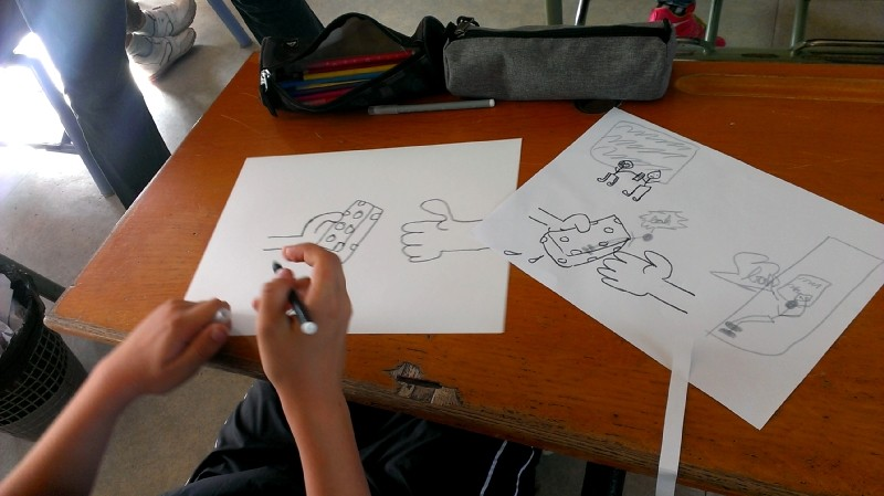 Rencontre avec les artistes et les CM2 de l'école Notre-Dame de Montfortfort-sur-Meu