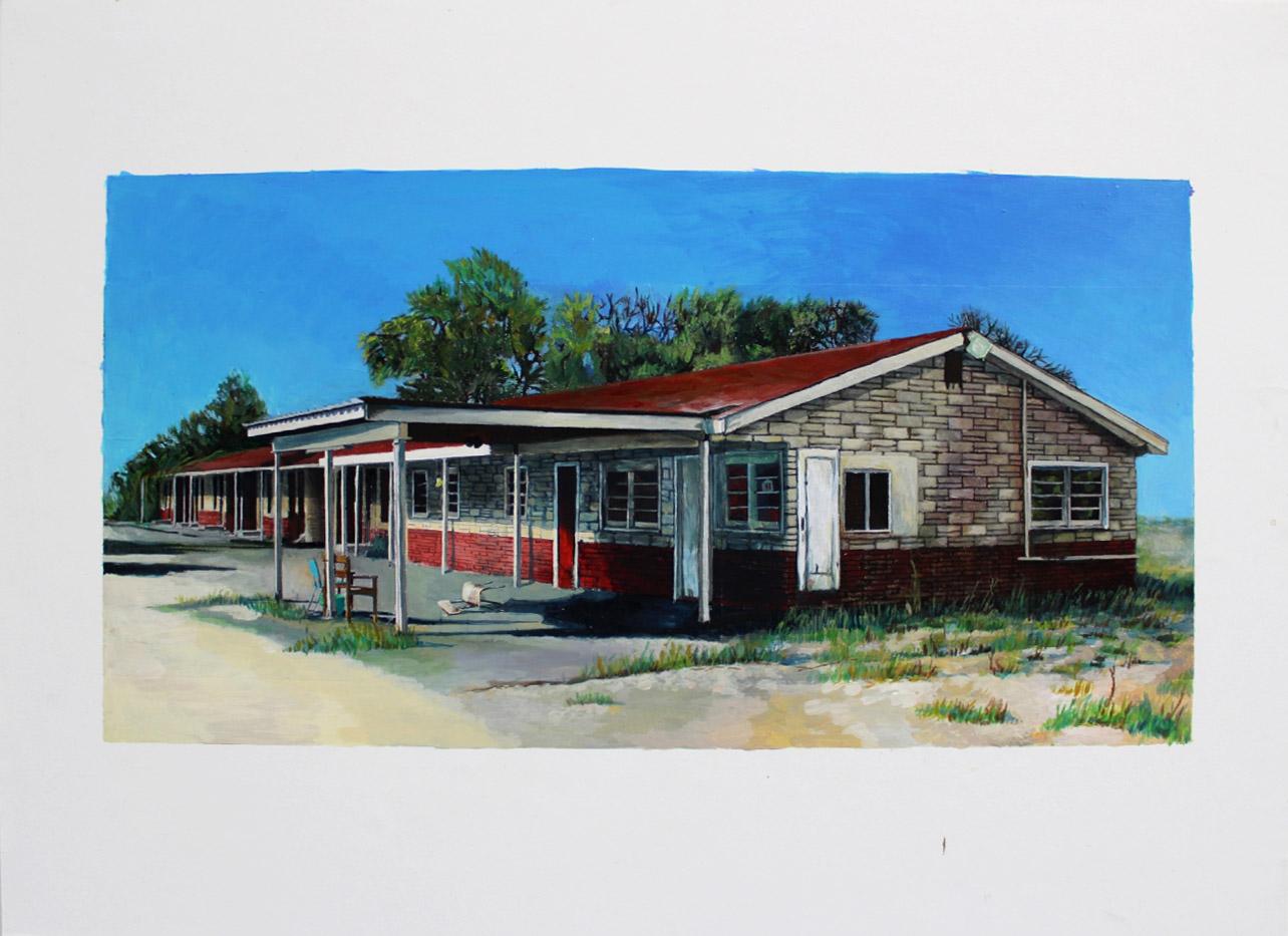 Julie Giraud, Alabama, peinture acrylique sur papier Fabriano, 60 x 44 cm