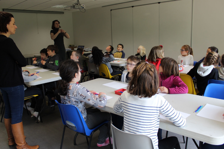 Classe de CE1-CE2 de l'école du Moulin à Vent de Montfort-sur-Meu