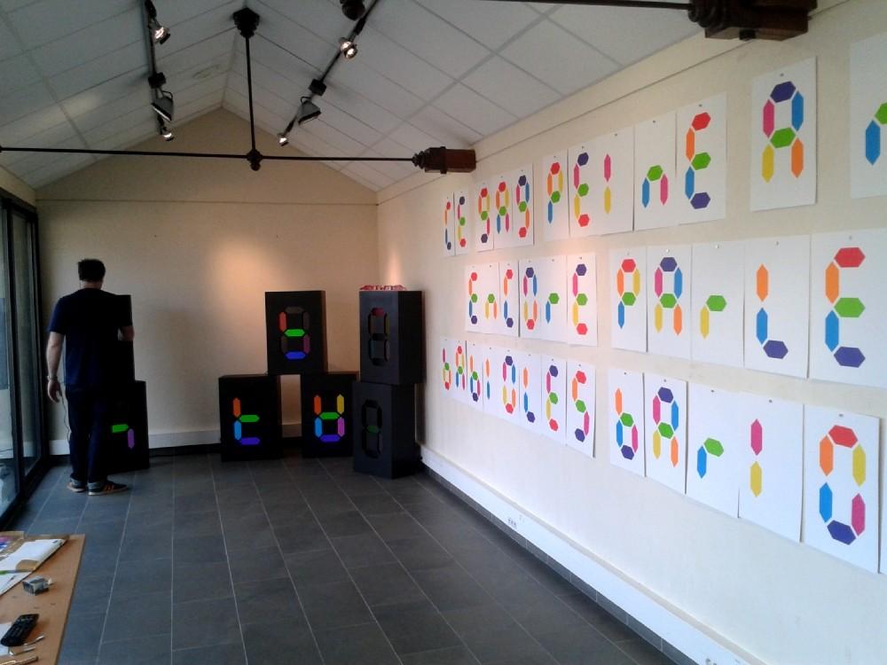 Montage de l'exposition G.A.G.