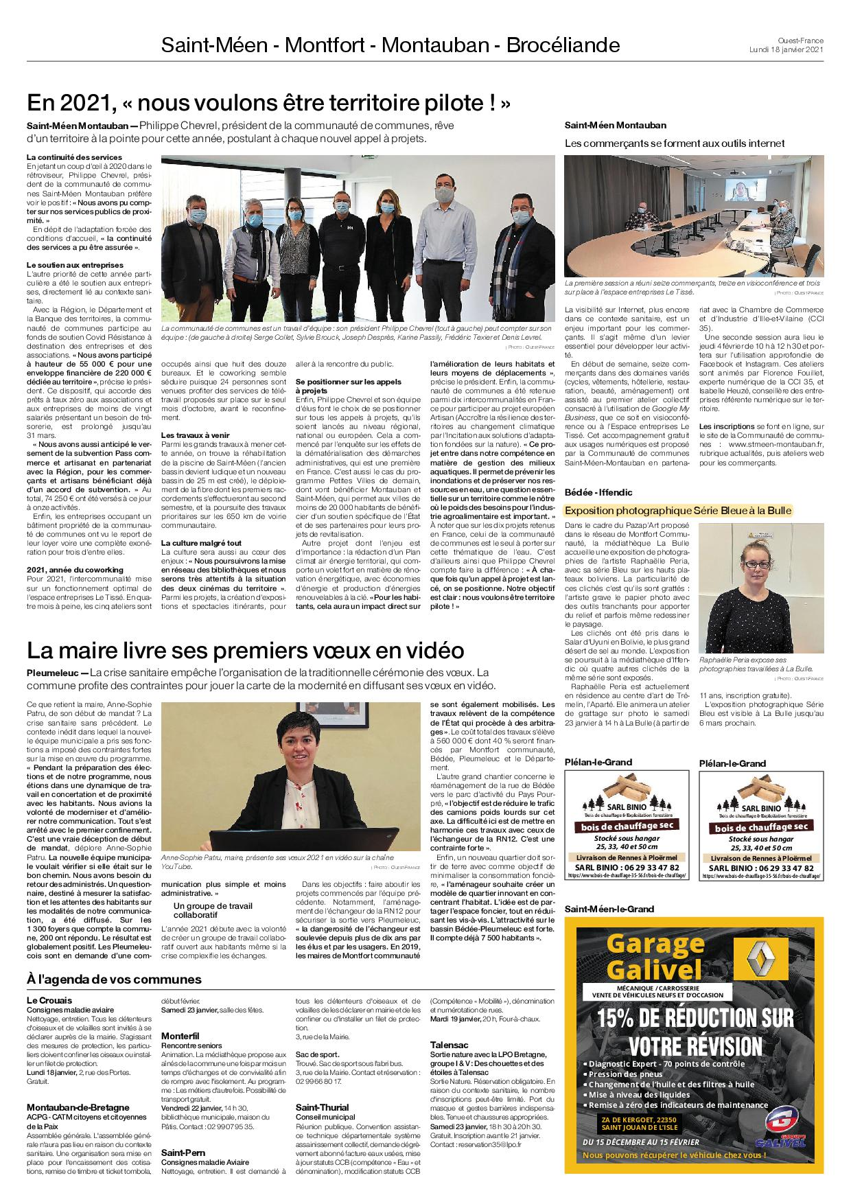 Article Ouest-France du 18.01.21
