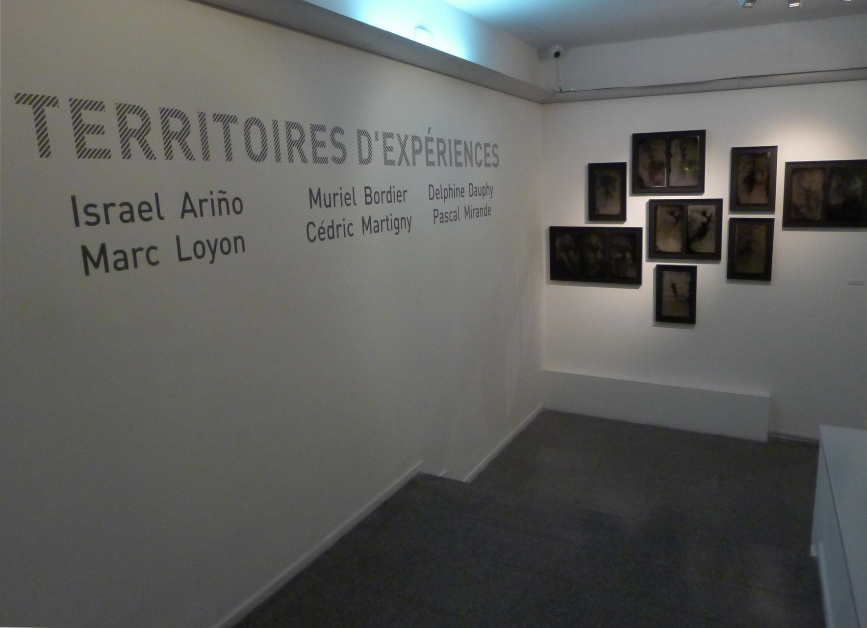 Entrée de l'exposition Territoires d'expériences. DR Israel Ariño
