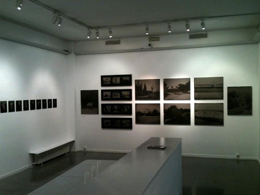 Installation de l'exposition Territoires d'expériences.