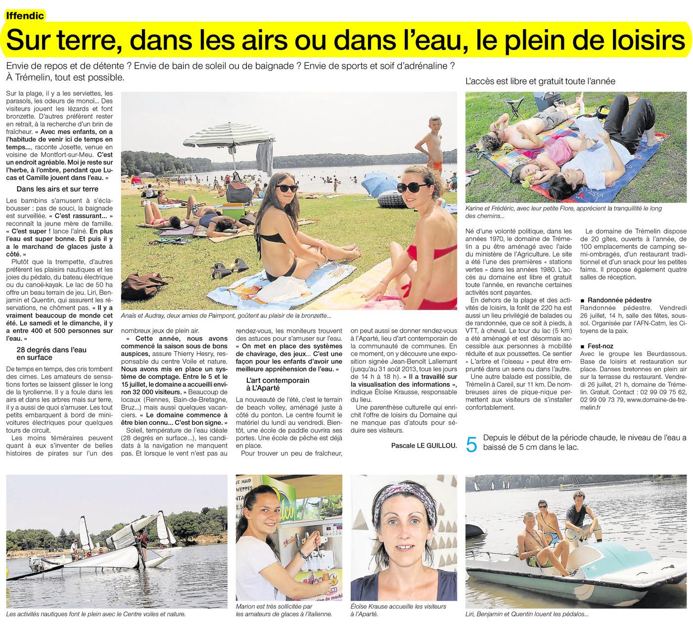 Ouest-France - 25 juillet 2013