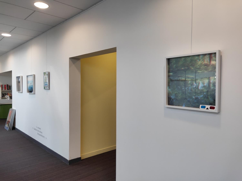 Vue de l'exposition Pascal Mirande, Graphitis